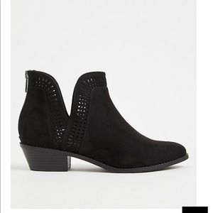 NWT Faux Suede Booties